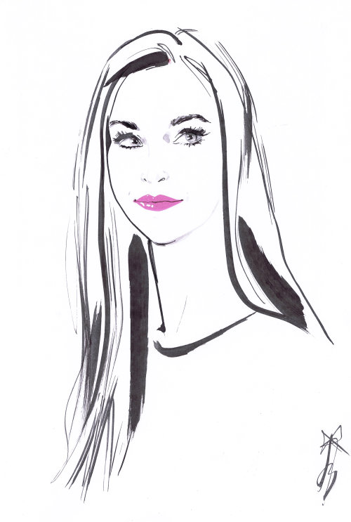 Fashion beauty drawing