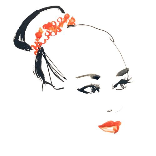 Live event drawing of beauty face
