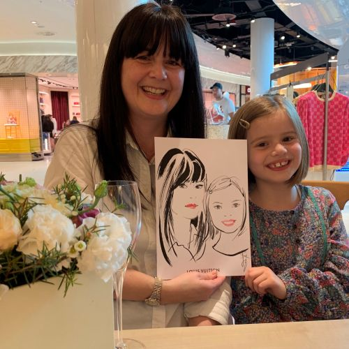 Live even mother daughter drawing