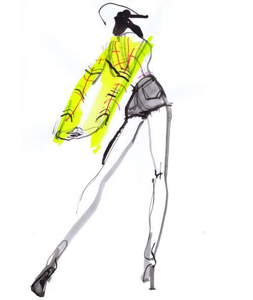 Fashion Model backpose