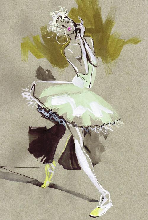 Fashion Model performing ballet