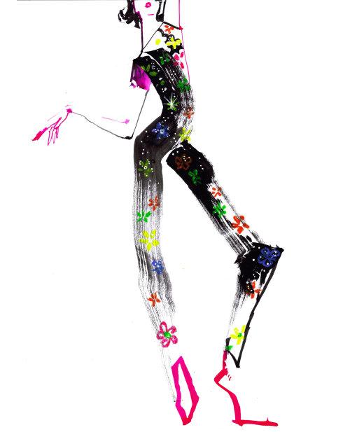 Fashion Model posing in pants