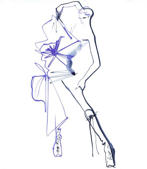 Fashion model posing with legs