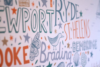 Typography wall art design