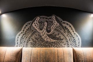 Mural drawing of bird