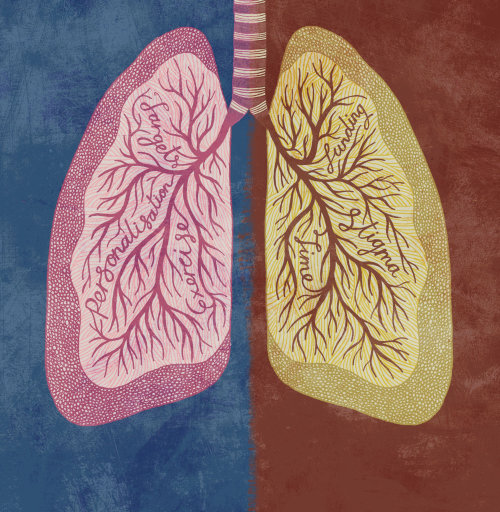 Medical art of Lungs