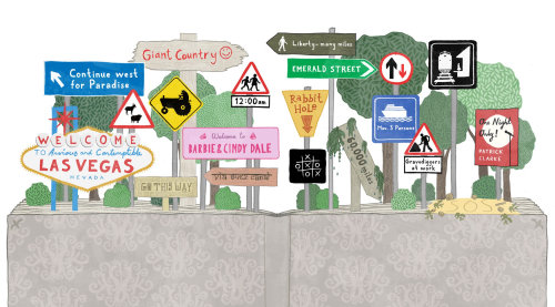 Signboards lettering by James Grover
