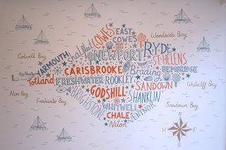 Hand Lettering Mural Artwork By James Grover