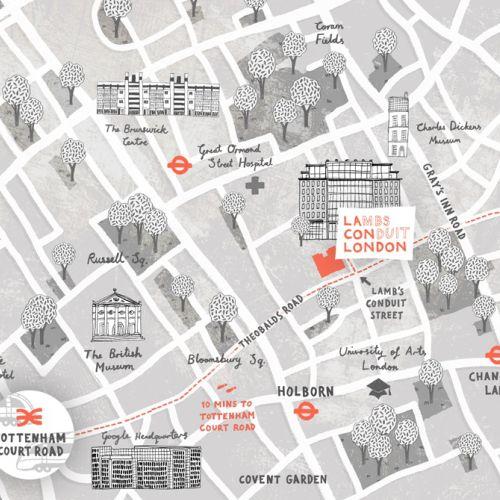 Map Illustration of Lamb's Conduit Street