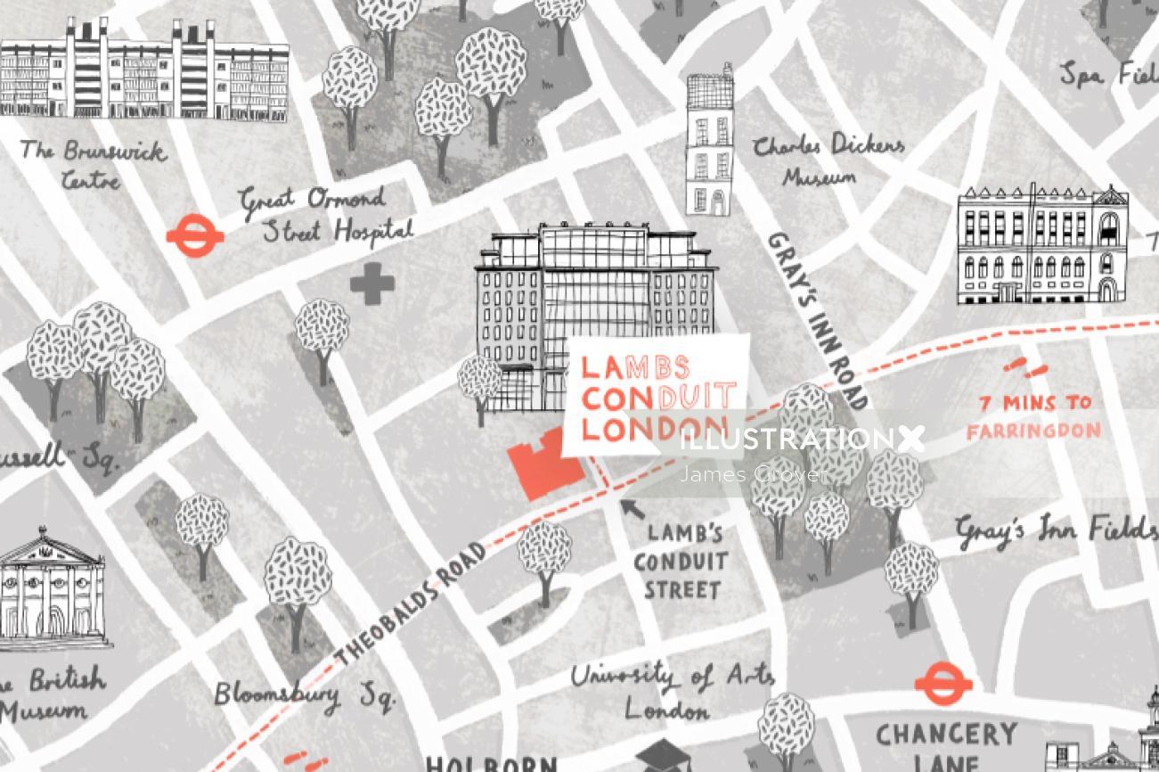 Maps Lambs Conduit london