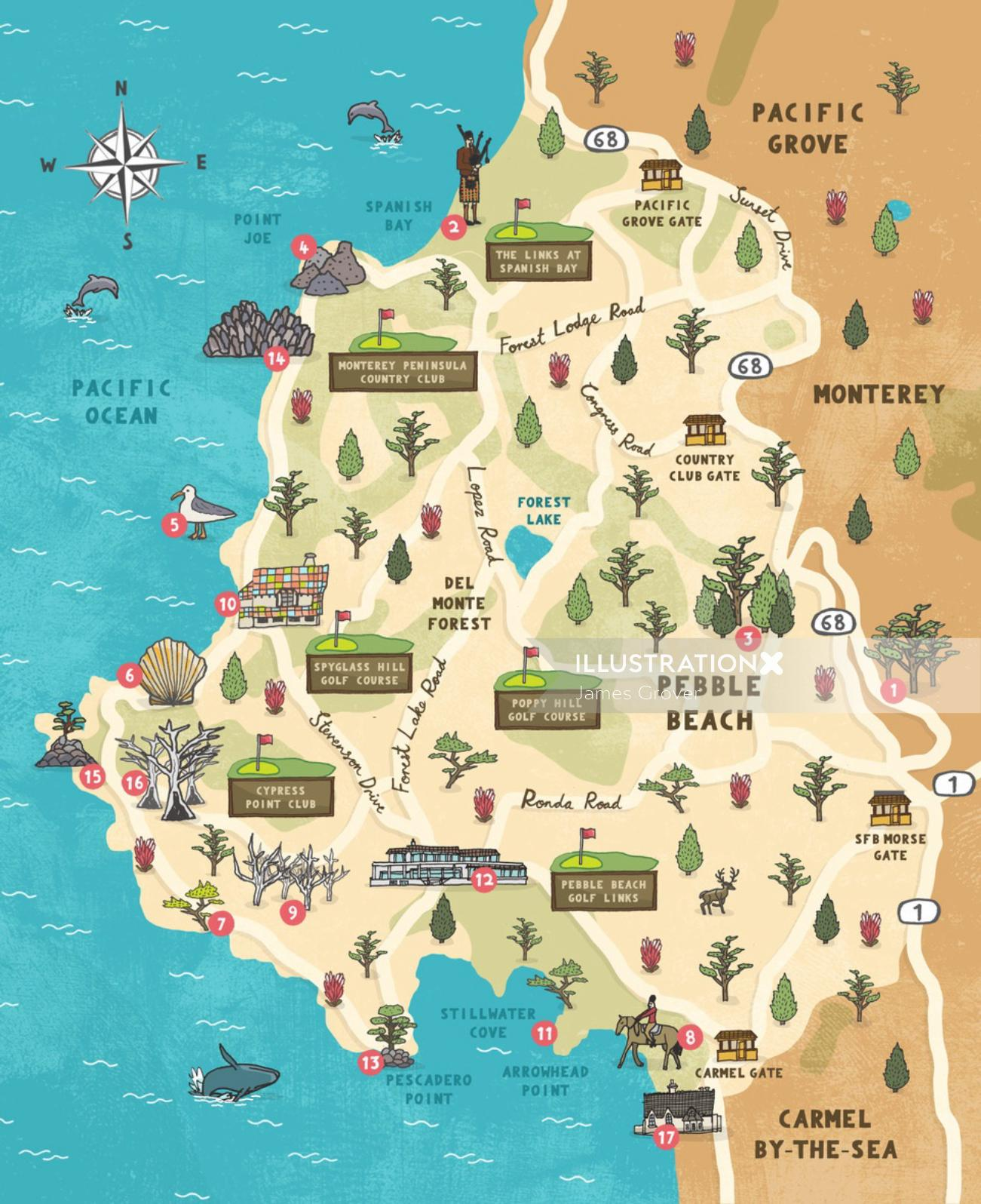 Maps Pacific Grove