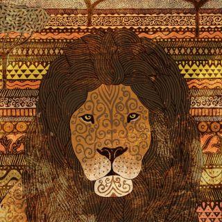 Pencil art of Lions in the Masai Mara