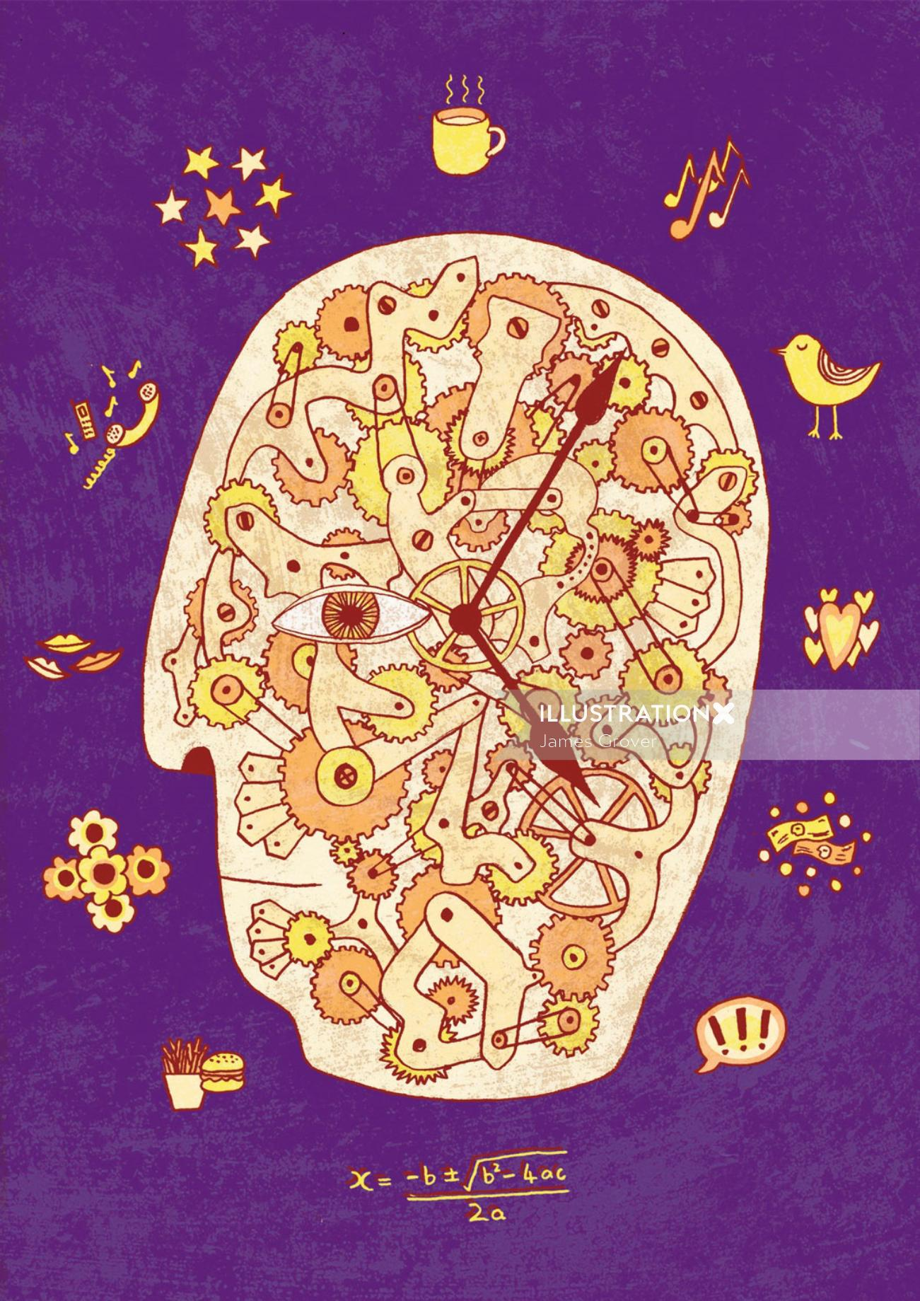 The psychologist Illustration of Time in our Every Day lives