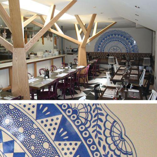 Wall Mural Design For Restaurant