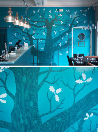 Oak Tree Mural For The Bar Area