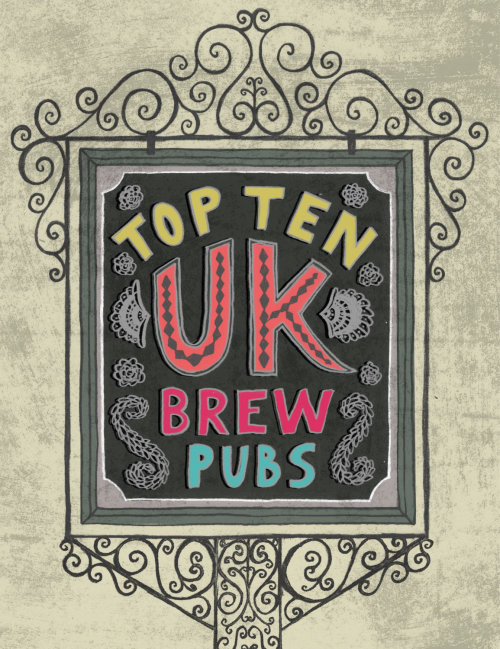 Top 10 UK Brew Pubs Infographic