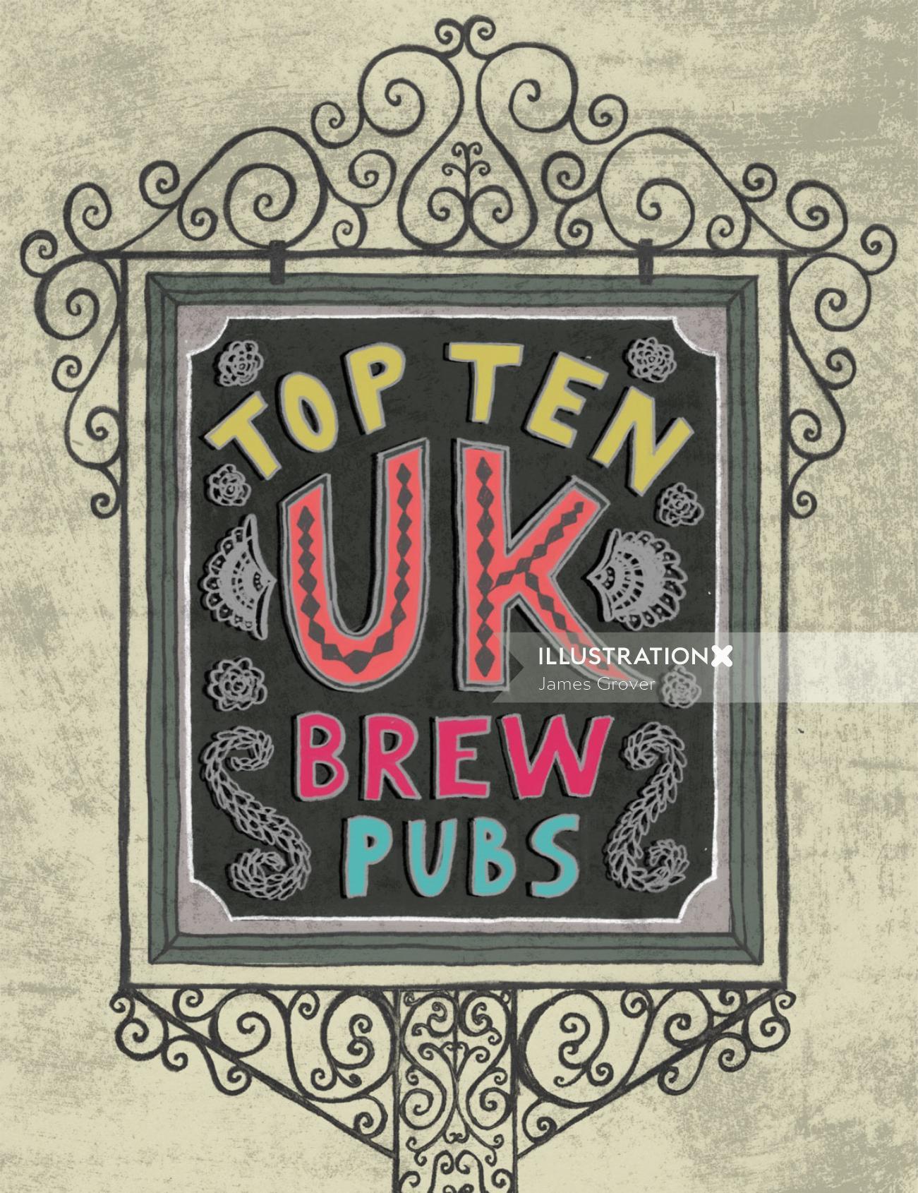 Top 10 UK Brew Pubs Infographic