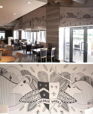 Illustration for Cheddar Woods luxury resort
