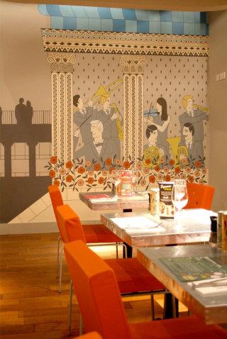 Wall Mural For Restaurant