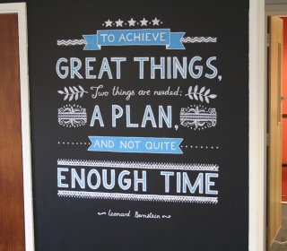 Lettering Design of Great Things Mural