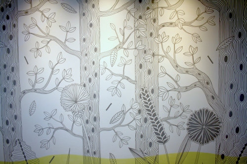 Woodlands wall mural painting