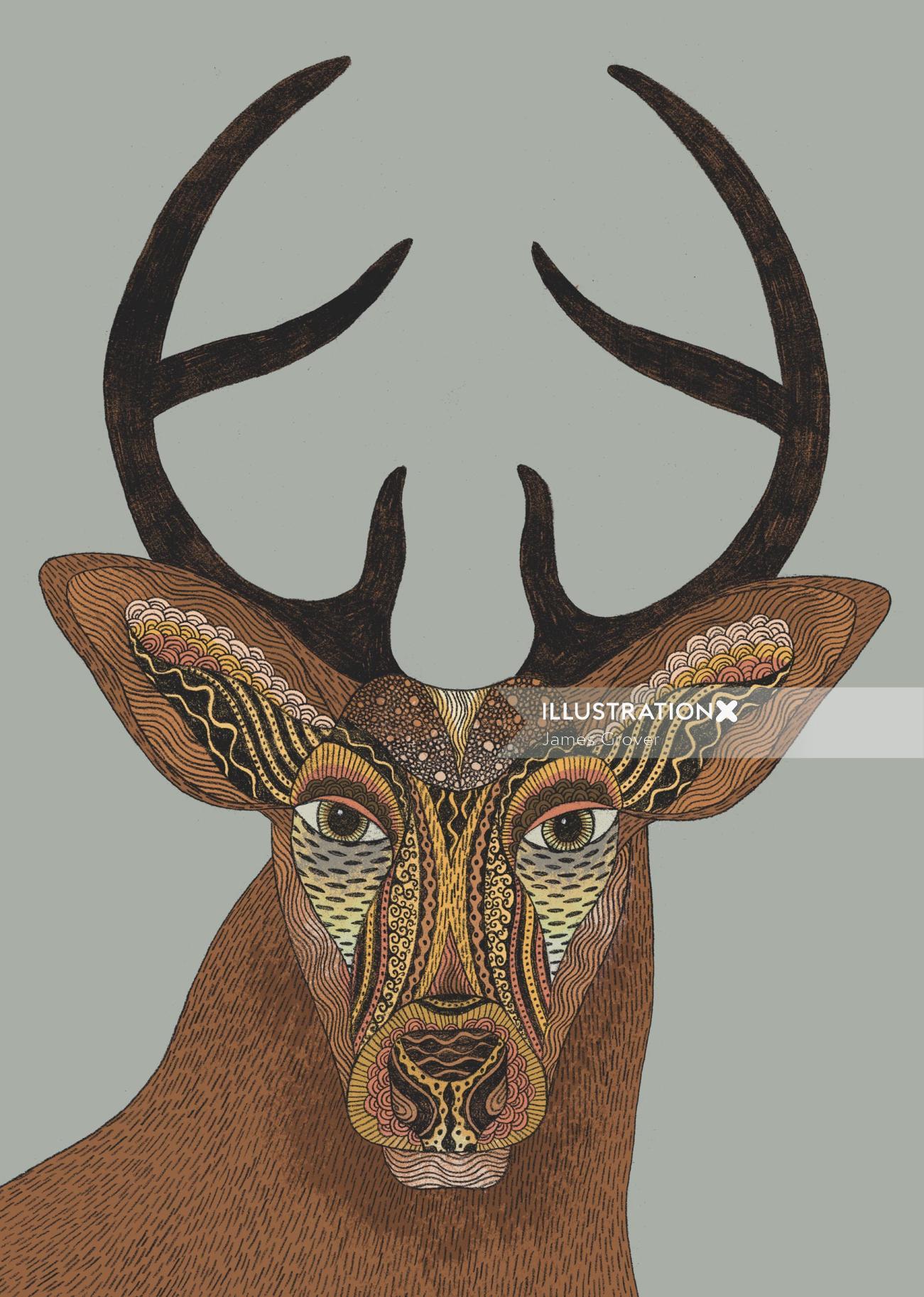 Nature art if Deer