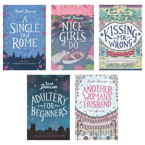Lettering illustration for Sarah Duncan novels