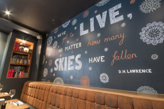 Hand lettering wall painting