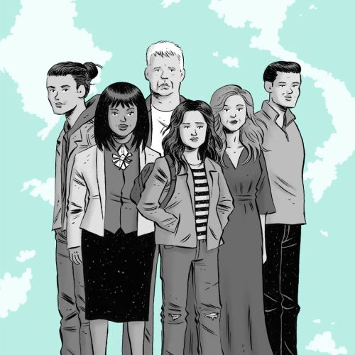 Editorial illustration of family for New York Magazine