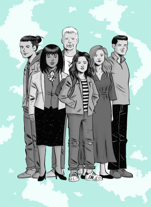 Ilustración editorial de familia para la revista New York