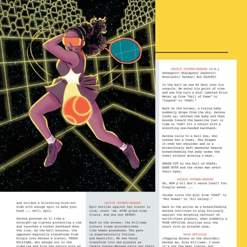Editorial art of Serena Williams for ESPN Magazine