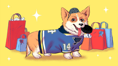Editorial art of cute dog for ESPN Magazine