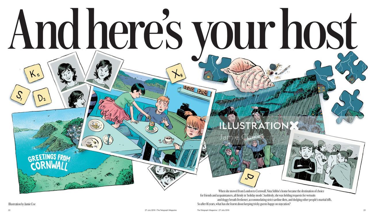 Editorial illustration for The Telegraph Magazine