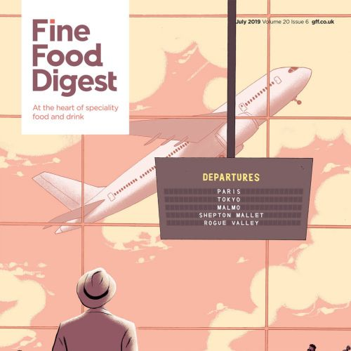 Editorial art of fine food digest