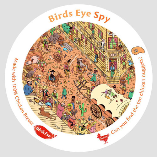 Graphic Birds Eye Spy