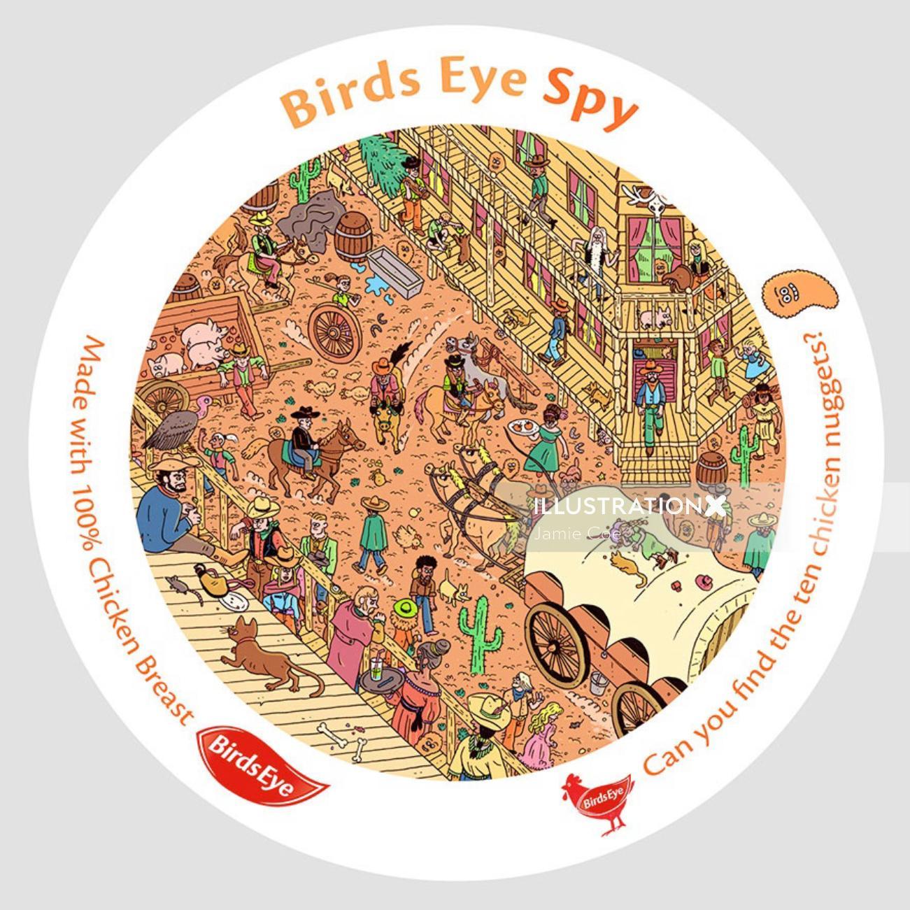Graphic Birds Eye Spy