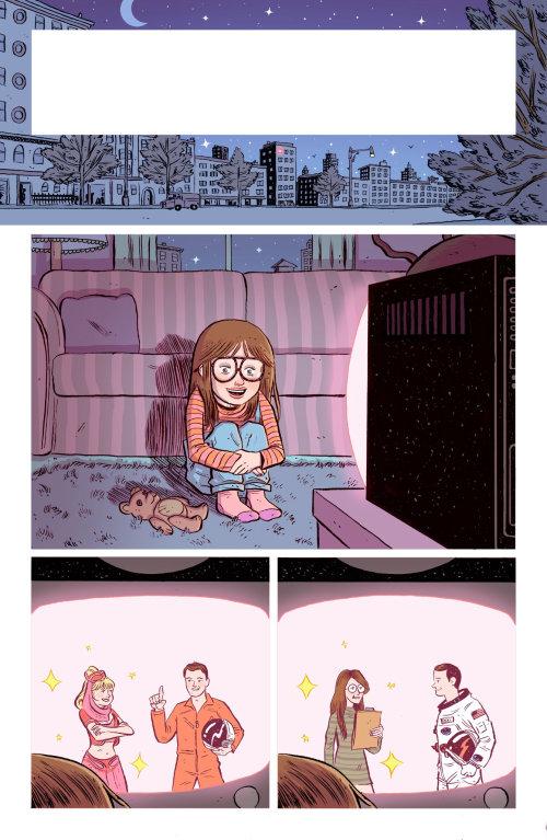 Ilustración cómica de ver televisión