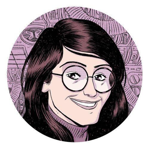 Graphic portrait of women