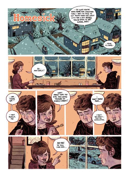 Ilustración editorial de enfermos en el hogar