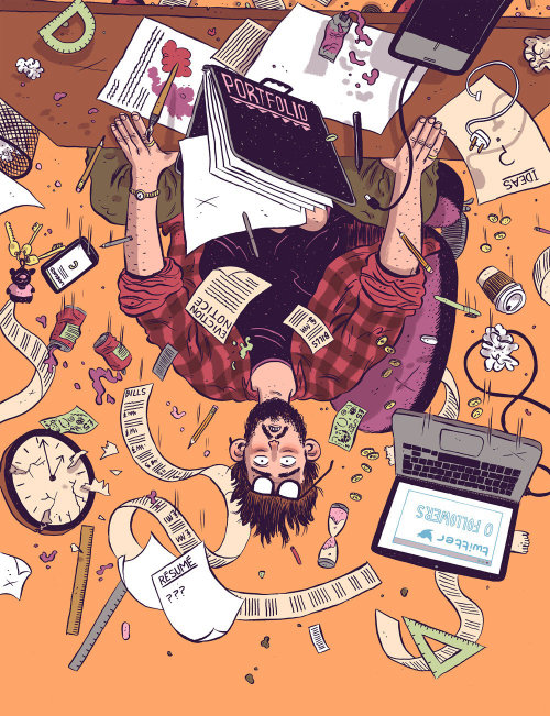 Computer Arts Magazine illustration