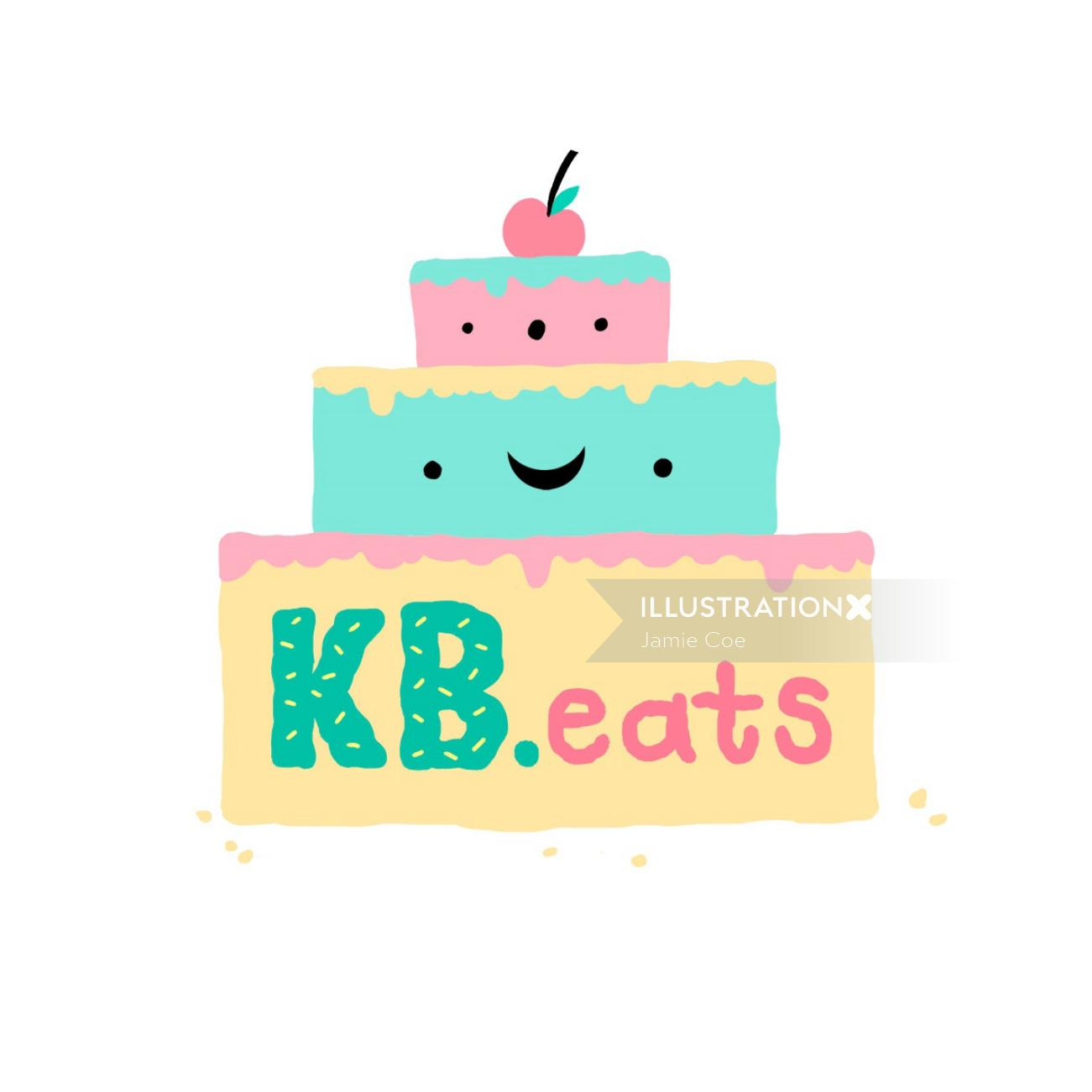 Logo design of kb eats logo