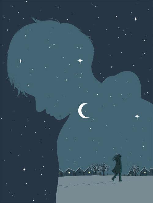 夜生活的数字绘画