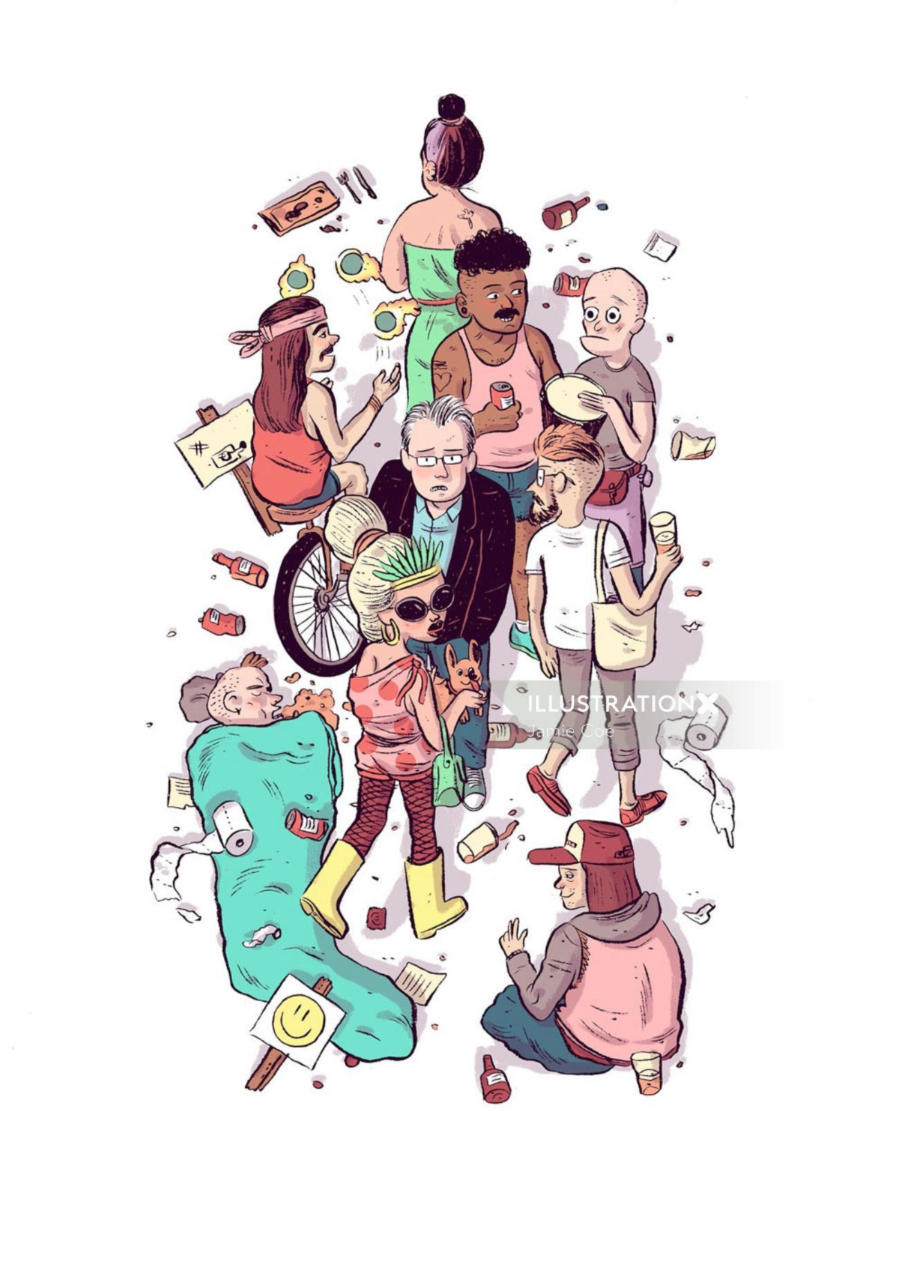 Cartoon & Humour people lifestyle