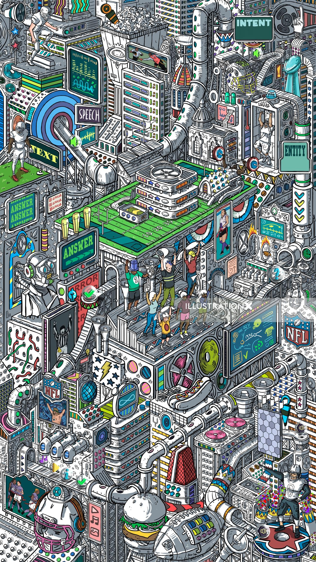 Architecture illustration of City