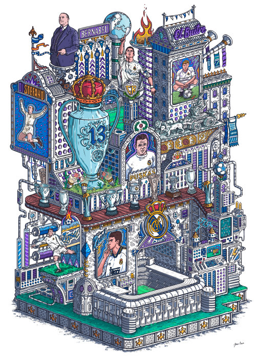 Graphic architecture of city building