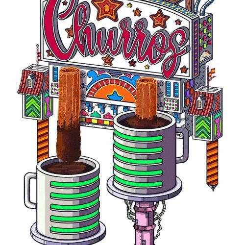 Animation of Churros