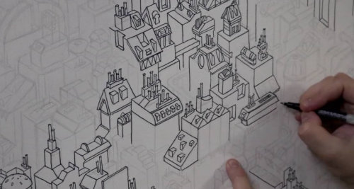 Hand drawn animation video