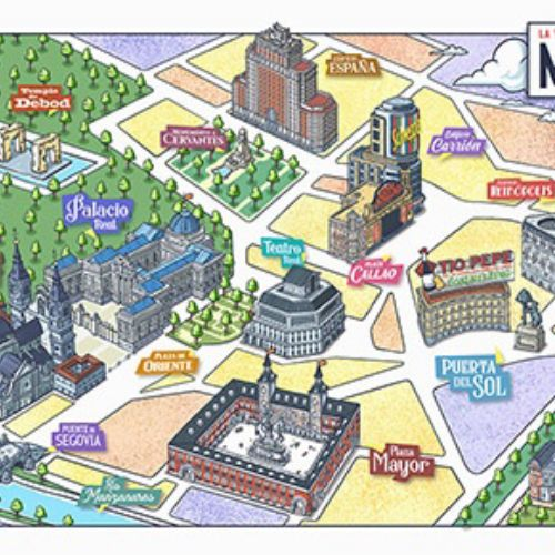 Maps madrid city