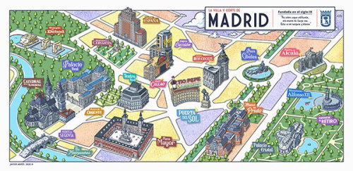 Maps madrid city