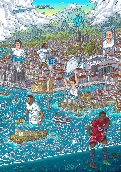 Maps people with minature city
